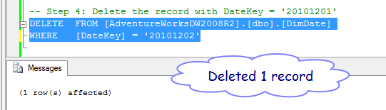 Deleting source record