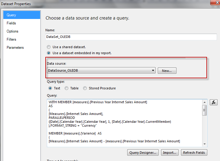 SSRS – AS Vs OLE DB Connection | BI passion